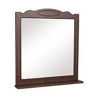 Зеркало Классик (орех итальянский) 80 см с полкой без подсветки