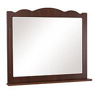 Зеркало Классик (орех итальянский) 100 см с полкой без подсветки