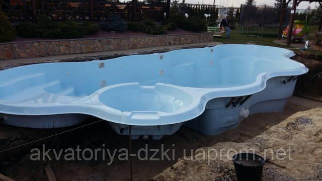 Композитный бассейн Монте-Карло от Завода Акватория-ДЗКИ