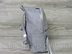 Женский рюкзак из искусственной кожи, две молнии на лицевой части, 1 отдел, регулируемые ремни, фото 3