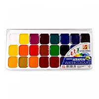 """Акварельные краски  """"ЛУЧ""""  Аквариум  24 цвета пластиковая упаковка"""