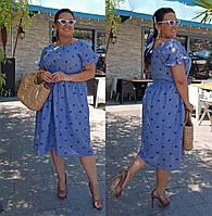 Платье большого размера / марлевка / Украина 36-04094, фото 1