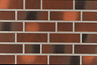 Фасадная клинкерная плитка Ammonit Keramic 92905 braun-orange-kohle-bunt glatt 240х71х9