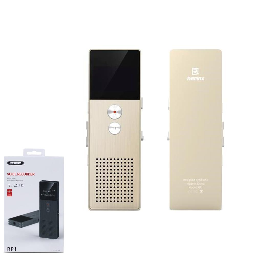 Портативный цифровой диктофон Remax Voice Recorder RP-1 Gold