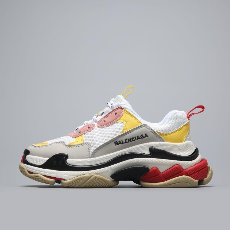 Кроссовки Balenciaga Triple S White Pink Yellow