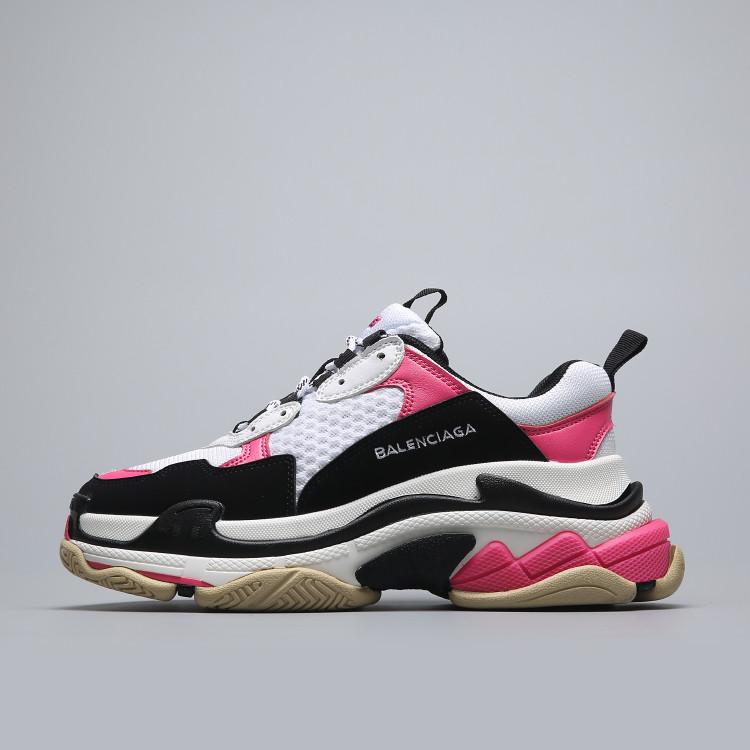 Кроссовки Balenciaga Triple S White Pink Black