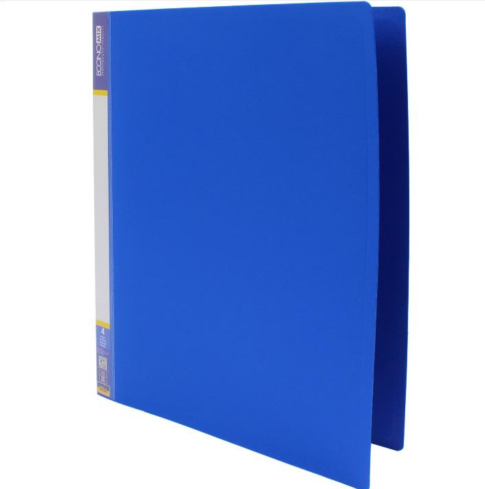 Папка пластикова А4 Economix на 4 кільця, синя E30702-02