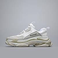 Кроссовки Balenciaga Triple S White Gray Белые