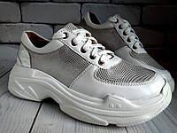 Кроссовки кожаные белые 36-39 (9)