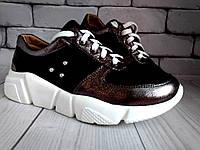 Кроссовки кожаные черные 36-39 (8)