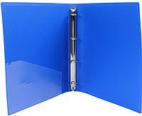 Папка пластиковая на 4-х кольцах Economix А4, синяя E30702-02