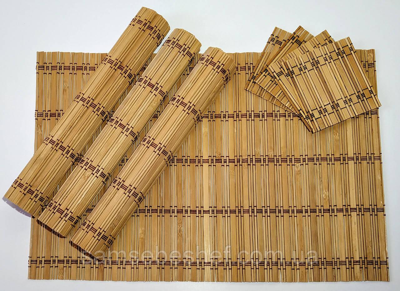 Набор бамбуковых сервировочных ковриков GA Dynasty 16020