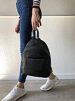 Черный рюкзак, портфель в стиле casual