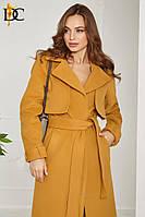Кашемировое пальто-халат с поясом Р 2460 #O/V