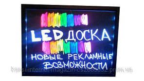 Рекламная светящаяся LED доска 30х40 (флуоресцентная), FLUORESCENT BOARD  30*40 с маркером