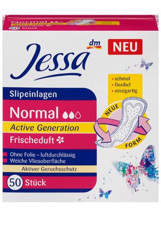 Ежедневные гигиенические прокладки Jessa Normal Active Generation Frischeduft-2 капли, 50 шт.