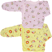 Распашонка (кофточка) с царапками на кнопках, швы наружу, хлопок (кулир), ТМ Алекс, р. 56, Украина