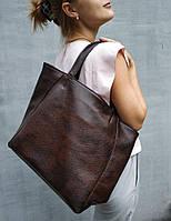 Мягкая сумка шоппер Mini в расцветках коричневый титан