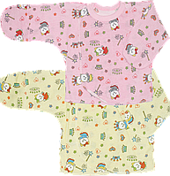 Распашонка (кофточка) на запах с царапками на кнопках, швы наружу, хлопок (кулир), ТМ Алекс, р. 56, Украина