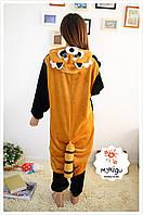 Пижама Кигуруми Енот S, М, L, XL