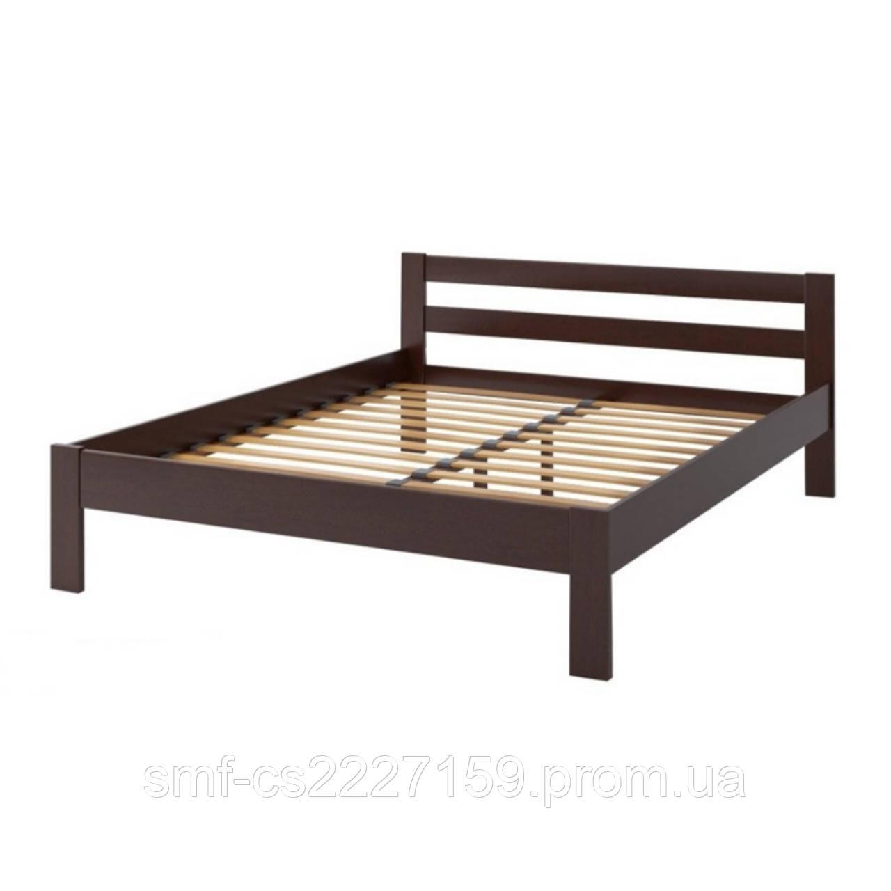 """Ліжко двоспальне """" Економ """"  з натурального дерева  вільхи."""