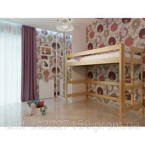 Ліжко горище з натурального дерева бук