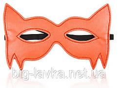 Маска с прорезью для глаз для БДСМ игр Secret  Оранжевый