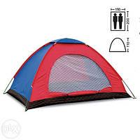 Палатка двухместная SY 004 красно-синяя