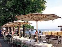 Зонты для летних кафе Dolomiti Wood от 3*3 Ткань Acrylic gr. 320 m/q Ecru (беж.).