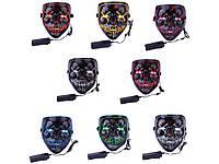 LED маска Судная ночь  Белый