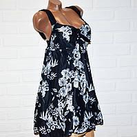 Черный купальник платье 68 размер, шикарный танкини для больших дам