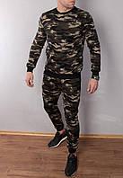 Мужской теплый спортивный костюм камуфляжный , кофта батник, фото 1