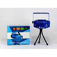 Диско LASER  2 in 1, Лазерный проектор с акустическим контролем, Лазер звездное небо