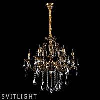 Люстра свічки з підвісками L5235/6P GAB SR Svitlight, фото 1