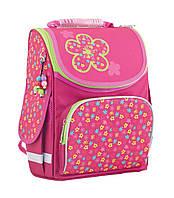 Ранец каркасный школьный SMART №553332 PG-11 Green flowers Цветы (34*26*14см) розовый для девочки