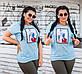 """Женская стильная футболка в больших размерах 15202 """"Нашивка FASHION"""" в расцветках, фото 2"""