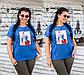 """Женская стильная футболка в больших размерах 15202 """"Нашивка FASHION"""" в расцветках, фото 3"""