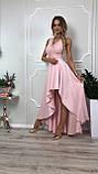 Платье купить Лиана ассиметрия вечернее выпускное коктельное длинное шлейф гипюр плаття 42 44 46 48 50 Р, фото 4