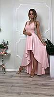 Платье купить Лиана ассиметрия вечернее выпускное коктельное длинное шлейф гипюр плаття 42 44 46 48 50 Р