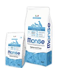 Monge ADULT HYPOALLERGENIC SALMONE & TUNA сухой корм для собак всех пород ЛОСОСЬ и ТУНЕЦ 2.5 кг