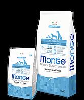 Monge ADULT HYPOALLERGENIC SALMONE & TUNA сухой корм для собак всех пород ЛОСОСЬ и ТУНЕЦ 15 кг