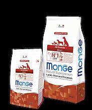 Monge ADULT LAMB, RICE & POTATOES сухой корм для собак всех пород ЯГНЕНОК & РИС И КАРТОФЕЛЬ 2.5 кг