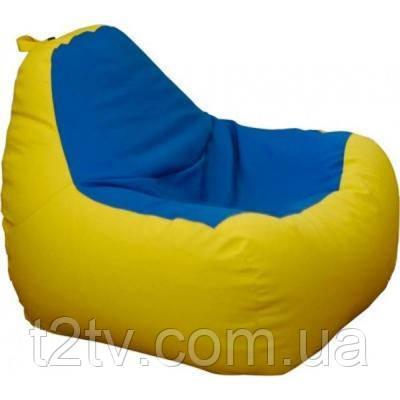 Пуф ПРИМТЕКС ПЛЮС кресло-груша Simba H-2240/H-2227 S Yellow-Blue (Simba H-2240/H-2227 S)