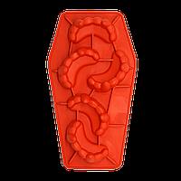 Форма силиконовая для льда Челюсти Вампира Красная
