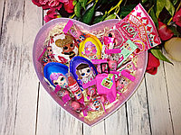 Вкусный подарок  с киндер-сюрпризами Лол для девочки