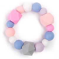 Силиконовый браслет-прорезыватель BabyMio Зефирный Разноцветный (BPROZ1)