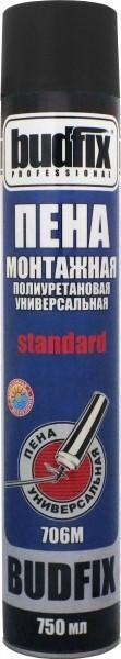 Пена монтажная полиуретановая универсальная BUDFIX 706М standard, 750 мл (упаковка 40 шт)