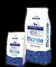 Monge MEDIUM ADULT CHICKEN & RICE сухой корм для взрослых собак средних пород КУРИЦА и РИС 3 кг