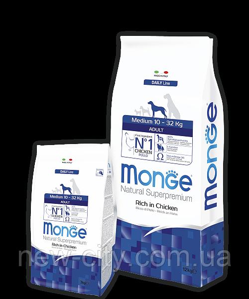 Monge MEDIUM ADULT CHICKEN & RICE сухой корм для взрослых собак средних пород КУРИЦА и РИС 15 кг