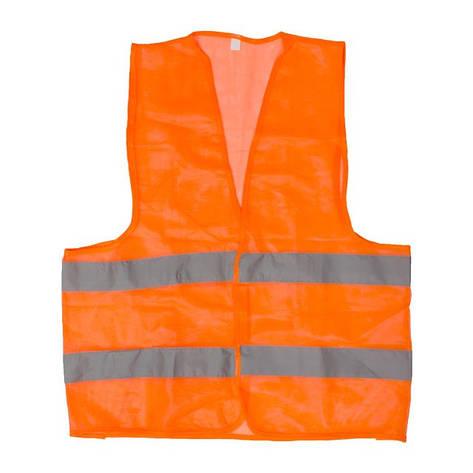 Жилет сигнальный оранжевый XL (60*70см), 100 гр/м2 INTERTOOL SP-2024, фото 2